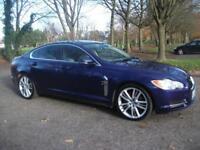 JAGUAR XF 3.0d V6 Portfolio 4dr Auto TOP SPEC PORTFOLIO=SATNAV=CREAM =FINANCE AVAILBL (blue) 2010