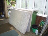 2 x sponge beds + 2 x sponge seat bottoms from conway trailer tent
