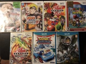 Nintendo Wii and Wii U Games $15 each