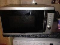 Cook works microwave