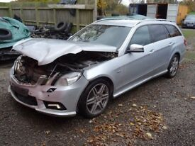 BREAKING FOR PARTS: 2011 MERCEDES E-CLASS E350 CDI BLUEEFFICIENCY SPORT 2987cc AUTO 7 SPEED