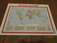 the world map jigsaw