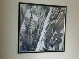 Framed New York Art picture print - excellent condition