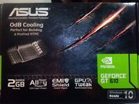 Asus GeForce GT 610 Silent Nvidia Graphics Card (2GB, DDR3, Low Profile Design, 0dB Silent Cooling)