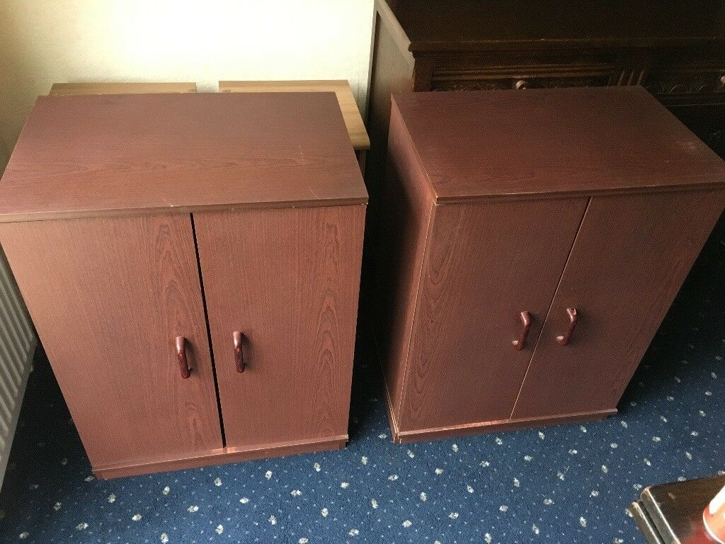 2 Brown Cabinets 30 ONO