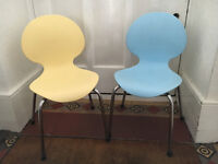 Two stylish Italian made childrens chairs