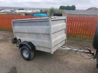 Ex spca 5x3 trailer with removable mesh roof livestock garden etc