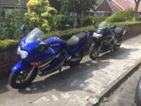 Two Suzuki gsx600f for sale one 5100miles both moted