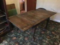 Vintage retro antique Victorian large dining kitchen tables £130
