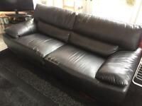 "3 seater faux leather sofa ""FREE"""