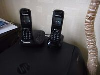 Panasonic Twin Set Digital Cordless Phones inc. Answer Machine