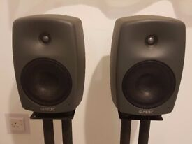 Genelec 8040A Studio monitor speakers pair, very good condition.