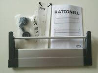 Ikea Rationell deep drawer front, silver x2 - Opened but unused