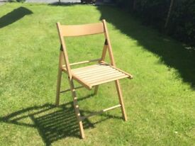 Folding wooden chair ideal for use in home or garden