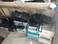 Bulk Items - printers, monitors, telephone.