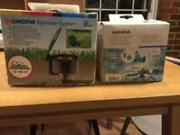 Two Gardena Sprinkler systems