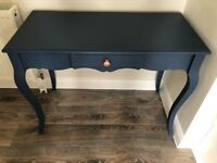 Vintage blue console table
