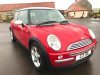 MINI HATCH COOPER 1.6 COOPER 3d 114 BHP *PLATE STAYS ON CAR* (red) 2004
