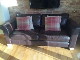 Chestnut Brown 3 seater sofa