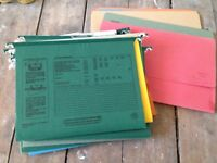 Files for a filing drawer & folders