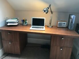 Beautiful solid wood, retro/vintage style desk 162w x 61.5d x 70h