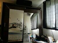 Modern Bedroom Wardrobe Sliding Door Alfa Dark Oak Sonoma 200cm sold by Arthauss