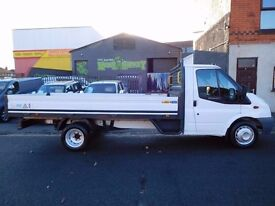 Finance Me.... 60 plate Ford Transit LWB alloy dropside 115bhp 13 ft 6 loading bed.