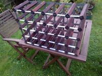 beautiful wooden wine rack for 30 bottles in excellent condition