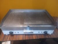 Heavy Duty Electric Countertop Grill for Cafe