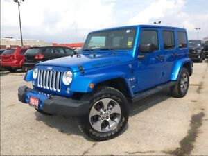 2016 Jeep WRANGLER UNLIMITED SAHARA**LEATHER**NAV**BLUETOOTH**HE