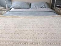 Ivory and Pearl throw