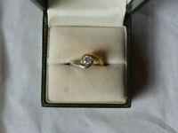 QUARTER CARAT DIAMOND SOLITAIRE RING
