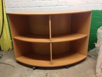 Children's Curved Wooden Shelving Unit