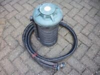 POND FILTER - CLEAR STREAM 600 / 1200 WITH HOSE AND INSTRUCTION BOOKLET