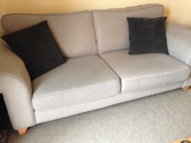 Excellent DFS grey fabric sofa & two chairs,pet & smoke free home.£250 ono