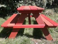 kids picnic/garden bench/table