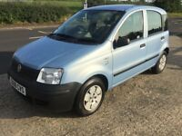 fiat panda 1108cc matalic ice blue 08 plate 995 no offers swap for 7 seater or van