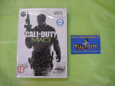 CALL OF DUTY MODERN WARFARE 3 NINTENDO WII ITA NUOVO SIGILLATO