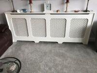 Extra Long Radiator Cover - White - Length 220cm [87in]