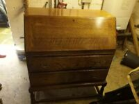 Vintage wooden bureau storage unit