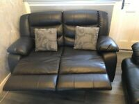 Real leather recliner sofa **BARGAIN*