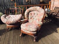 (Pair) Rocking chair and standard chair for renovation