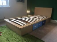 Single Next Bed with slatted base & pull out storage drawer