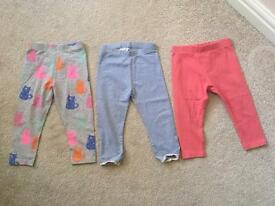 Next baby girl leggings bundle 12-18months toddler kids clothing