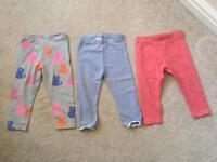 Next baby girl leggings bundle 12-18months toddler kids clothing