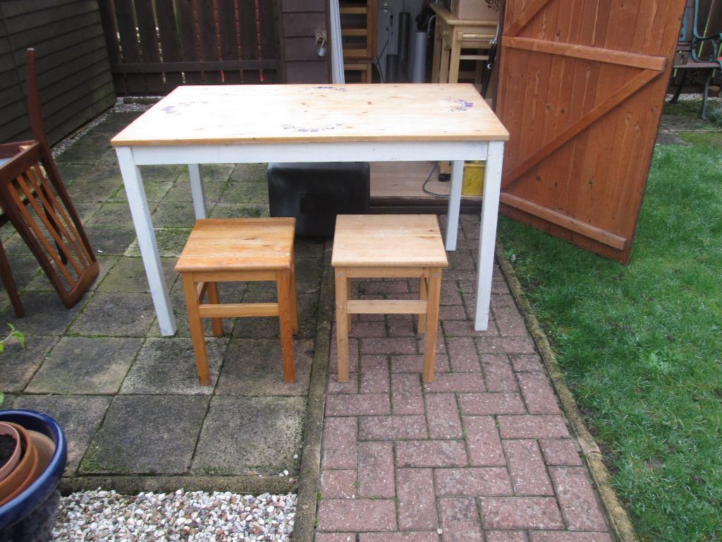 ikea ingo pine table 6 ikea oddvar stools now reduced to 25