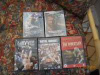 Wrestling Dvds 5 In Total 2 Brand New Still In Wrapping
