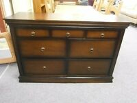 Ex-display, excellent quality and condition, merchants chest of 7 drawers