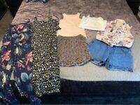 GIRLS BUNDLE SUMMER CLOTHES NEXT H&M 9-10 10-11