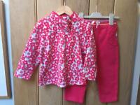 Age 2-3 years fleece top & jersey bottoms (Mothercare)